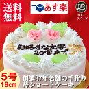 【誕生日ケーキ/バースデーケーキ】メッセージ/花付/生クリームデコレーション/5号