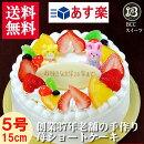 バースデーケーキ生クリームデコレーション