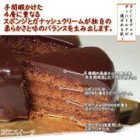 生チョコのクリスマスケーキ
