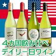 【送料無料】世界のデイリー白ワイン 4本セット dwc4-s【ワインセット】【smtb-KD】【YDKG-f】【dwc4】【wineday】【福袋】
