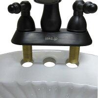 〔INK-0301007H-S〕シャワーヘッド付混合水栓黒風アンティークシルバー(銀)【本体サイズ:W170*D250*H215*TH55】