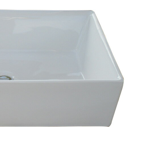 洗面ボウル おしゃれ 陶器 オンカウンター 置き型 スクエア 四角 幅60×奥行40×高16cm INK-0402035H