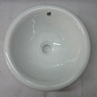〔INK-0405050H〕オーバーカウンタータイプオーバル陶器製洗面ボウル【本体サイズ:W345*D270*H160】