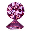 ピンクダイヤモンド 0.063ct FANCY VIVID PURPLISH PINK SI-1〔CGL〕