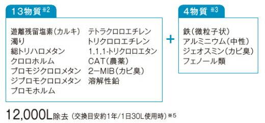 TK-HB41C1SK 浄水カートリッジ除去対象13物質+4物質タイプ(還元水素水生成器用)SETK-HB41C1SK