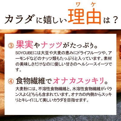 【大麦と果実のソイキューブ】小麦粉不使用でとってもヘルシー♪食物繊維たっぷりで満腹感ばっちり&お腹スッキリ!果実とナッツがたっぷり美味しくダイエットビードットラボビーラボB.LABO蒲屋忠兵衛商店【10P12Oct14】