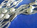 淡水パールロングネックレス淡水パールのブレスレットと淡水パールのネックレスの2本セット−22淡水パール真珠 ロングネックレス ネックレス 真珠