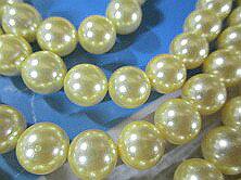 形成外殻珍珠(貝珍珠)圓珠子黄色黄金(燈)10mm珠子外殻珍珠珍珠珍珠項鏈珍珠無環耳環真珠白蝶貝珊瑚有孔玻璃珠·有孔玻璃珠配飾零件的gifutopuruzento結婚純白黄金珍珠·珍珠·珍珠