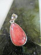 インカローズペンダントトップピンクの愛の石しずくH−1