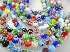 とんぼ珠 丸玉 カラフルmix 4mm珠 ガラスビーズアクセサリーパーツ/ チェコガラス スワロフスキー・ベネチアンガラスにも並ぶアジアの誇りとんぼ珠/ガラスビーズ 丸玉
