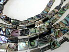 シェルパーツシェルビーズrectanglereinbow6x8/ハワイアンネックレスハワイアンペンダント製作用シェルビーズアクセサリーパーツマザーオブパール