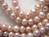 淡水珍珠(珍珠)LT紫水晶圓6mm1書有孔玻璃珠配飾零件淡水珍珠珍珠珍珠項鏈珍珠無環耳環珍珠珊瑚有孔玻璃珠外殻外殻有孔玻璃珠貝