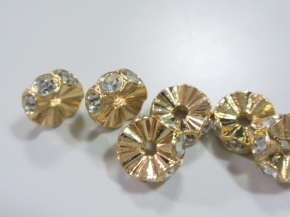 スワロフスキー アクセサリーパーツ ♯5820 ロンデル クリスタル/ゴールド7mm スワロフスキーペンダントネックレスやブレスレット製作で天然石や淡水パール(真珠)やとんぼ珠などのパーツの締め役ロンデル