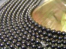 做外殻珍珠(貝珍珠)圓珠子黑色6mm珠子1部外殻珍珠珍珠項鏈珍珠無環耳環真珠白蝶貝珊瑚有孔玻璃珠·有孔玻璃珠配飾零件的禮物禮物結婚純白