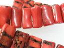 珊瑚通販専門店ランキング20位 珊瑚 ブレスレット 珊瑚 ビーズ 赤珊瑚(ばらケ売り)rectangle 珊瑚 パーツ