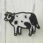 手作りキット ビーズファクトリー ビーズ刺しゅうブローチキット のんびりモーちゃん BK-583 ビーズ キット 刺繍 ビーズ刺繍 ハンドメイド カジュアル かわいい