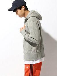[Rakuten Fashion]LOOPWHEELER × BEAMS PLUS / 別注 スリムジップパーカ BEAMS MEN ビームス メン カットソー パーカー グレー【送料無料】