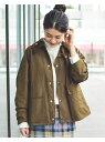 Barbour × BEAMS BOY / 別注 Thornbury Jacket BEAMS BOY ビームス ウイメン コート/ジャケット ブルゾン カーキ ブラック【先行予約】*【送料無料】[Rakuten Fashion]