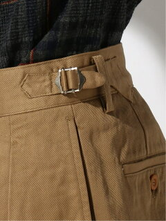 Pleated Trousers 11-23-1406-086: Khaki