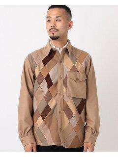 Patchwork CPO Shirt 11-18-4958-063: Camel