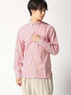 Stripe Buttondown Shirt 11-11-3212-139: Red