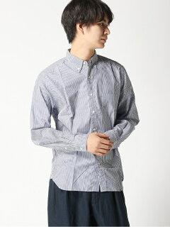 Stripe Buttondown Shirt 11-11-3212-139: Navy