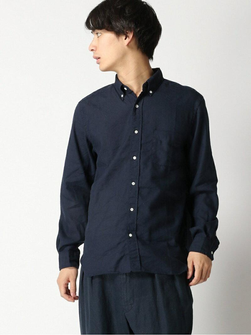 ビームス・プラス『リネンボタンダウンシャツ COOLMAX (R)』