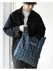 [Rakuten Fashion]BEAMS / チェック ショップ バッグ BEAMS MEN ビームス メン バッグ エコバッグ/サブバッグ グリーン レッド イエロー【送料無料】