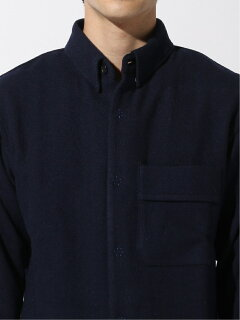Tweed CPO Shirt 11-18-4961-063: Navy