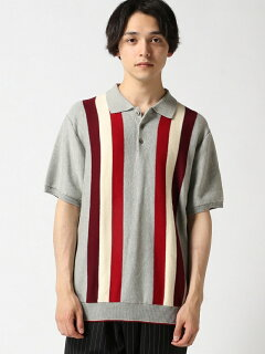 Stripe Cotton Polo Sweater 11-02-0335-048