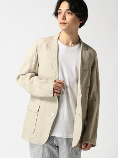 Linen Sack Sport Coat 11-16-1322-139: Natural