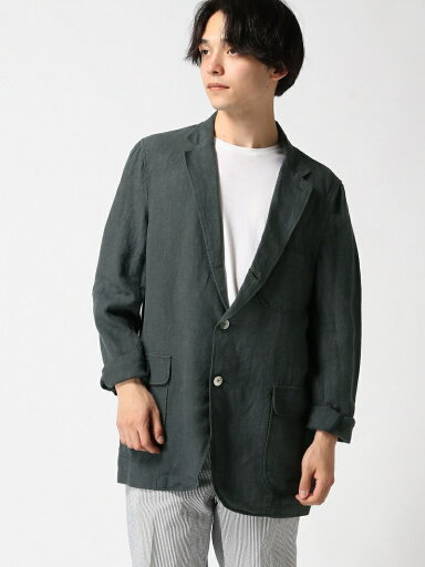 Linen Sack Sport Coat 11-16-1322-139: Charcoal