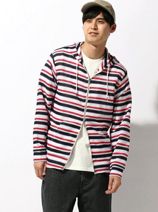 [Rakuten Fashion]【SALE/50%OFF】BEAMS / ボーダー メッシュ ジップ パーカー BEAMS MEN ビームス メン カットソー スウェット ブルー【RBA_E】【送料無料】