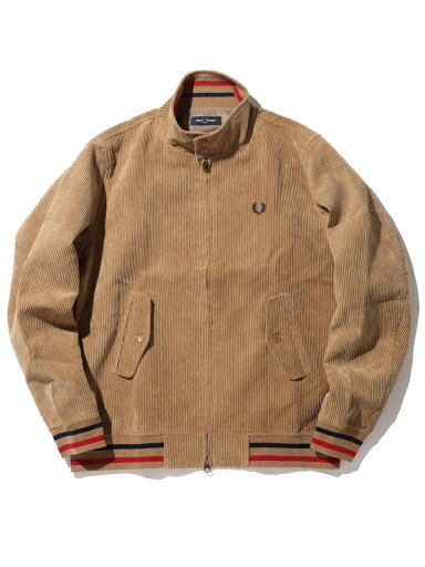 Fred Perry Corduroy Harrington Jacket 11-18-5073-060: Beige