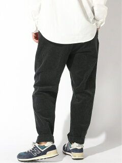 Pleat-Front Corduroy Trousers 11-23-1365-424: Charcoal