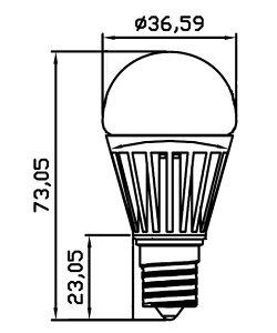 LED電球4W(45型相当)口金E17LB9317AD調光対応暖色2700K