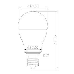 LED電球4.8W(55型相当)口金E17LB9717AD暖色2700K