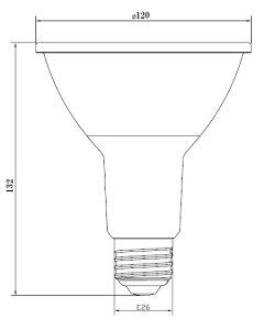 高演色Ra95!生鮮食品用LEDビーム電球LED電球E26150W相当調光器対応ビーム角30°PAR38ビーム球防塵防水屋外・屋内兼用LEDビーム形ビームランプLEDスポットライト水銀灯代替LSBM6126AVD電球色1300lm照明LEDランプ【beamtec】