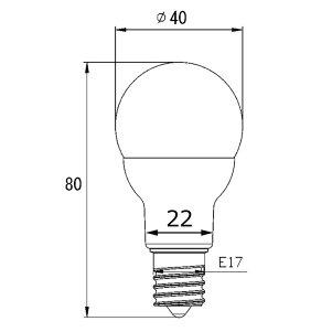 LED電球4.8W(55型相当)調光対応口金E17LB9717AD暖色2700K