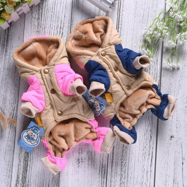 犬服 カバーオール コート ジャケット 秋冬 冬 犬 服 ドッグウェア 防寒 暖かい つなぎ 可愛い おしゃれ 大型犬 送料無料 ニューヨーク 5L 6L 7L