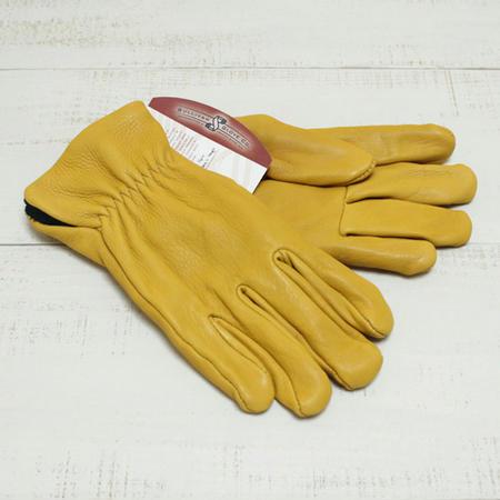 3サイズ展開 SULLIVAN GLOVE The Sierra Deer Skin Glove men fleece lined / Gold サリバン グローブ ディアスキン グローブ / 鹿革 フリース裏地 メンズ 手袋 / ゴールド イエロー Made in USA / アメリカ製 sullivan