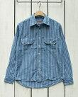 CAMCOLongSleeveChambrayWorkShirtsBlueStripeカムコシャンブレーワークシャツ/長袖ブルーストライプ