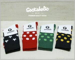 sockaholicCalfHighSocks/shortorganiccotton4-Colorsunisexソッカホリックカーフハイソックス/オーガニックコットン4色展開ユニセックスmadeineusockaholic