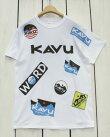 KAVUOverallPrintTee/logoShortSleeve/White/カブーオーバーオールプリントTシャツロゴ総柄/半袖ホワイト白/kavugildanbody