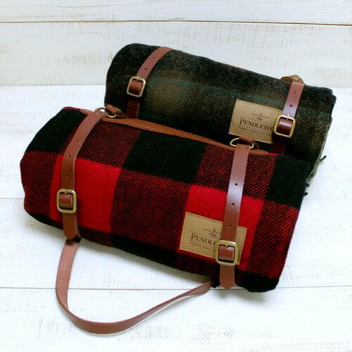 寝具, 毛布・ブランケット Pendleton Carry Along Motor Robe with Leather Carrier blanket 2 MADE IN USA pendleton