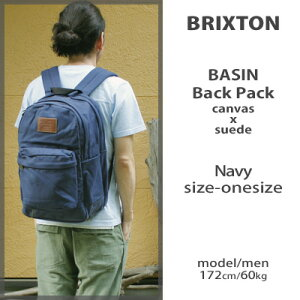 BrixtonBasinBackpack/canvassuedeNavyブリクストンキャンバスバックパック/スウェードボトムネイビーbrixtonブリクストンcaliforniasurfskatebikemusic