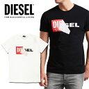 DIESEL ディーゼル メンズ ボックスロゴ Tシャツ 半袖T-DIEGO-QA カットソークルーネック インスタ映え SNS人気 ビッグサイズ