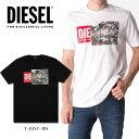 DIESEL ディーゼル メンズ ボックスロゴ Tシャツ 半袖T-JUST-XH カットソークルーネック インスタ映え SNS人気 ビッグサイズ