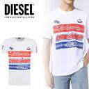 DIESEL ディーゼル メンズ ロゴ Tシャツ 半袖T-JUST-SD カットソークルーネック インスタ映え SNS人気 ビッグサイズプレゼントラッピング無料大きいサイズ ビッグサイズ