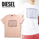 DIESEL ディーゼル メンズ ロゴ Tシャツ 半袖T-DIEGO-SL カットソークルーネック インスタ映え SNS人気 ビッグサイズ 大きいサイズ